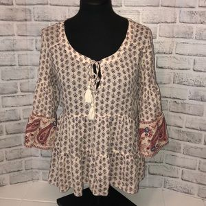 American Eagle tiered bohemian style top